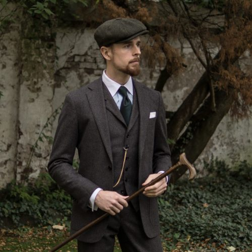 Tweed Outdoor Mode Fur Traditionalisten Vintagebursche